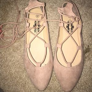 Shoes - Lace up ballerina flats